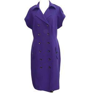 Calvin Klein Double Breasted Majestic Purple Dress